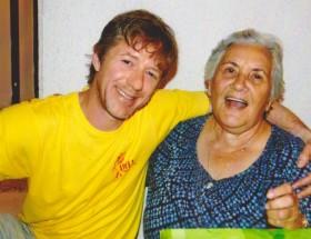 Jiří Langmajer s paní domácí